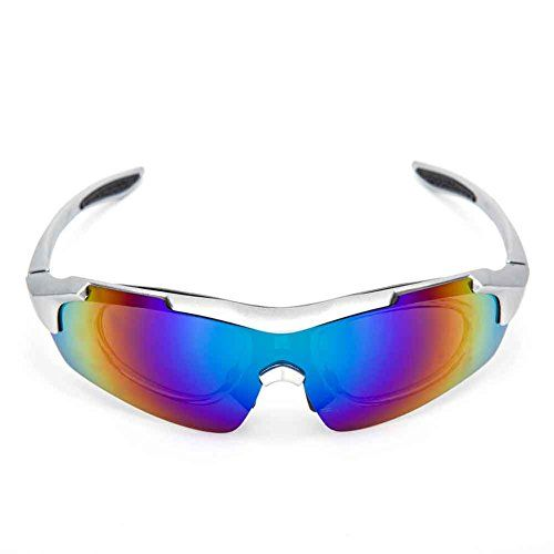 2b39e530203 Sports Cycling Sunglasses for Men Women Cycling Riding Running Glasses  Silver -- Check out this