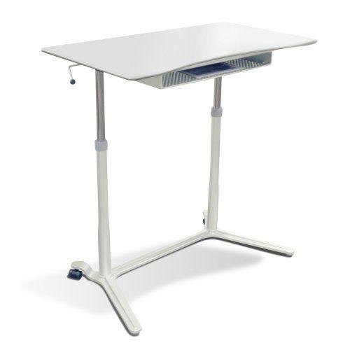 Jesper Sit U0026 Stand Height Adjustable Standing Desk   Computer Carts At  Hayneedle | Standing Desks | Pinterest | Standing Desks, Computer Cart And  Computers