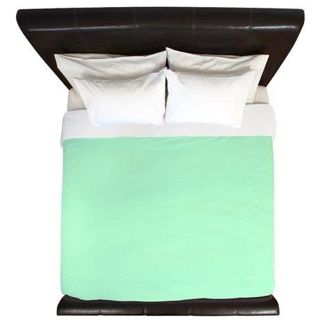 Mint Green solid color King Duvet on CafePress.com