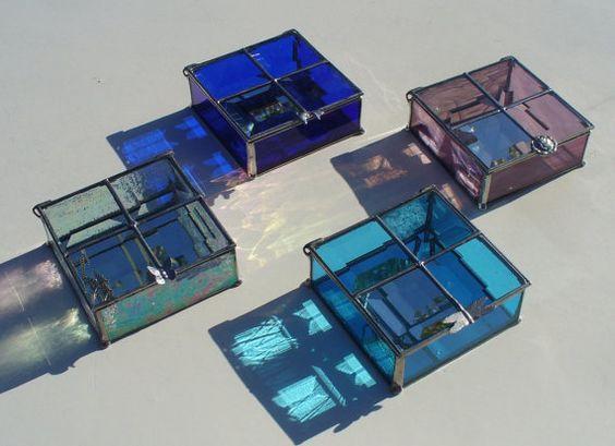Aqua Blue/Moon and Star custom jewelry box (REFERENCE)
