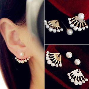 1 Paar Damen Ohrringe Ohrschmuck Creolen Ohrstecker Perlen Ohrring Schmuck Neu
