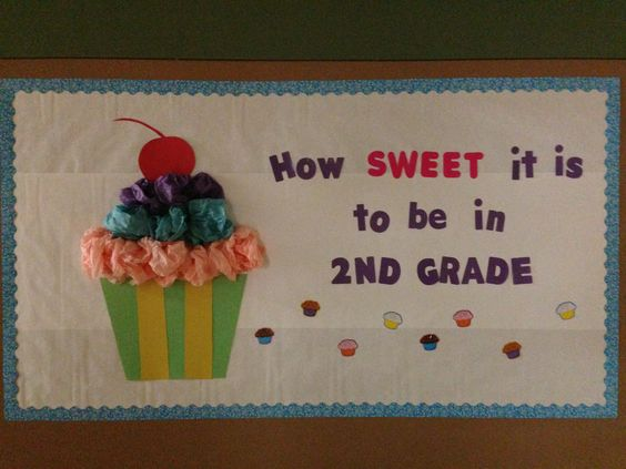 Back to school bulletin board I made and put up in our hallway to welcome back my students. Got this idea off Pinterest! :) Original pin idea came from Second Grade Jelly Beans classroom decor. http://secondgradejellybeans.blogspot.com/2012/08/classroom-makeover.html?m=1