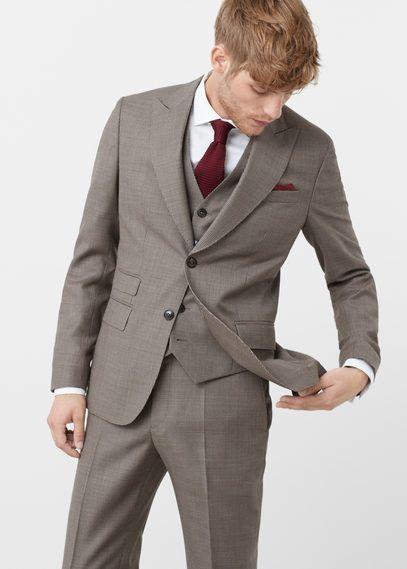 Slim Fit-Anzug Napoli aus Wolle - Herren - MANGO Man