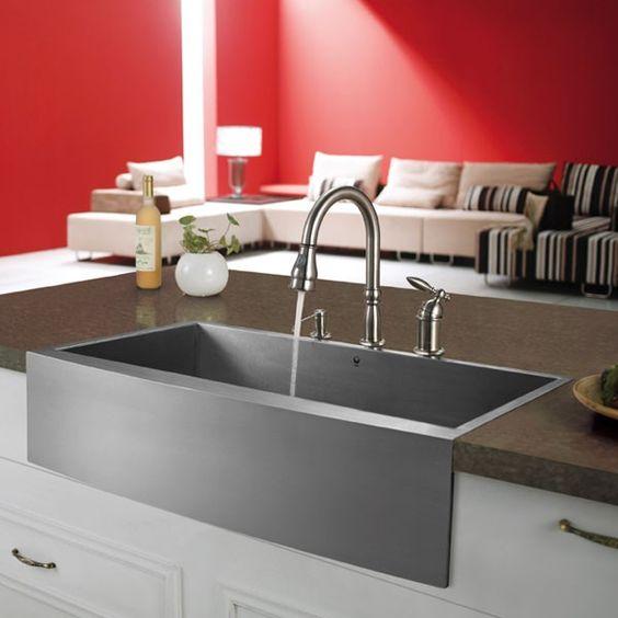 Vigo VG3320C Stainless Steel Farm Sink Installation | Kitchens | Pinterest  | Farm Sink, Sinks And Kitchen Sinks