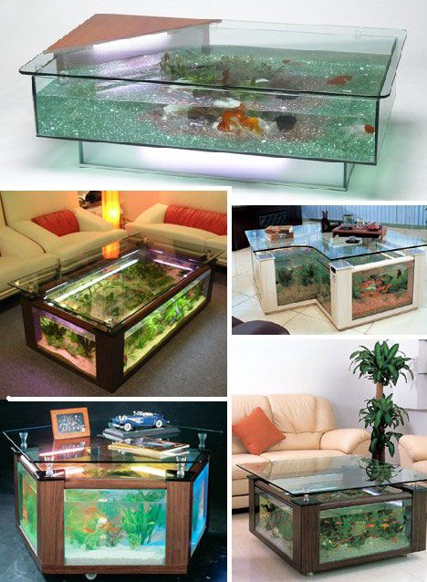 Everyone of these aquarium coffee tables are just fabulous!  So fun!