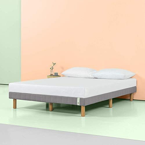 Best Seller Zinus 11 Inch Quick Snap Standing Mattress Foundation Low Profile Platform Bed No Box Spring Needed Gray Cal King Online In 2020 Bed Slats Platform Bed Old Bed Frames