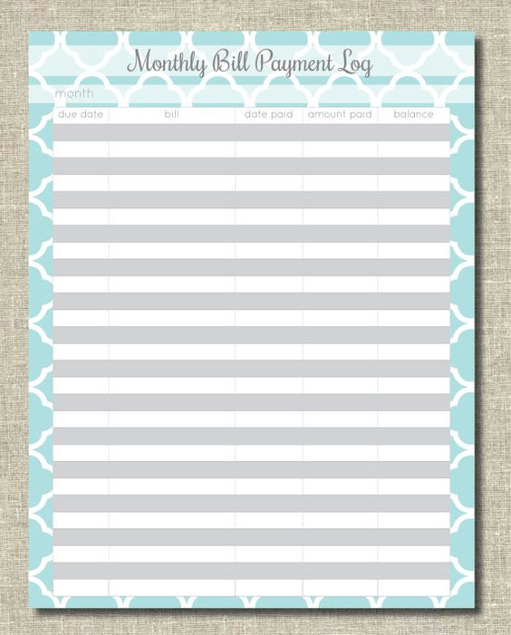 Printables Bill Organizer Worksheet monthly bill organizer organization printables pinterest jet organizer