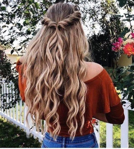 Wow Its 13 Cute Super Bowl Hairstyles Long Hair Styles Chic Hairstyles Hair Styles