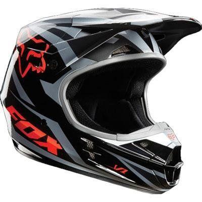 2014 Fox Racing V1 Race Helmet (XL, Orange)