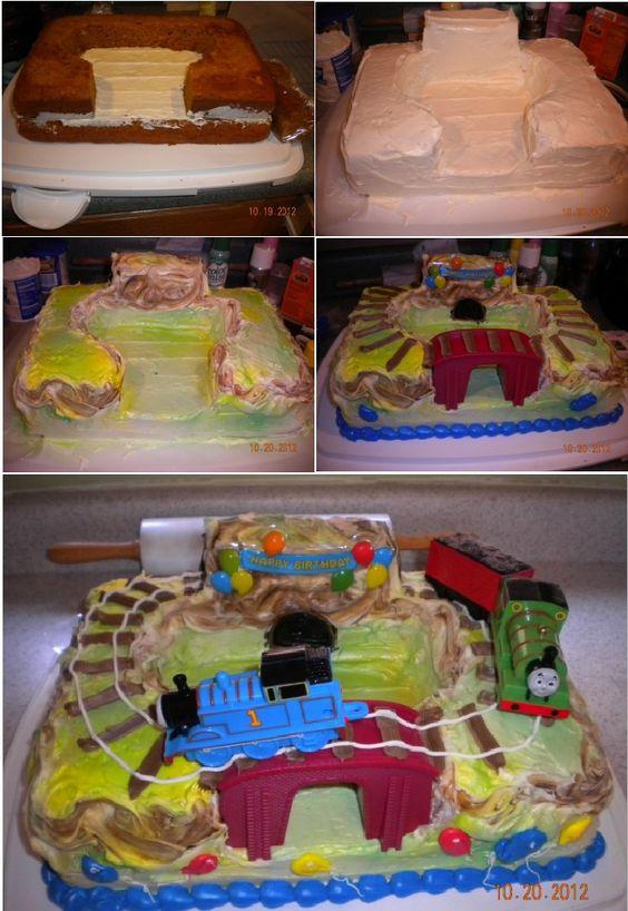 Vegan Pumpkin Spice Thomas and Percy Cake!
