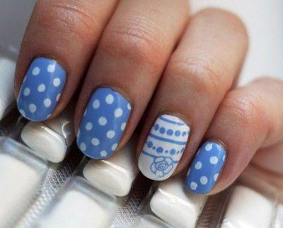 """""""Something Blue"""" Manicure"""