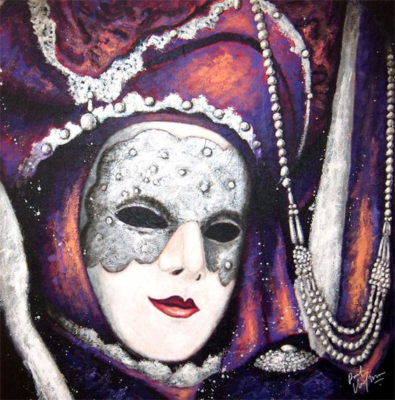 Venetiaanse masker 3-2-large, Roel Hofman
