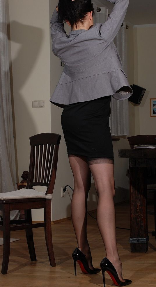 Black Stockings Skirt 112