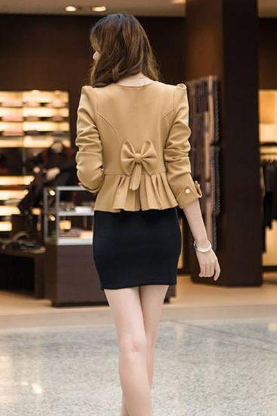 Woman Fashion Khaki Blazer/Suit - gopromdres.com