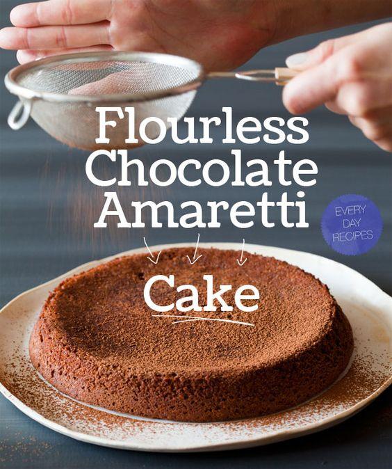 flourless chocolate amaretti cake | Spoon Fork Bacon