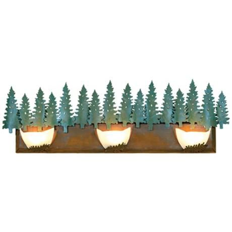 "Avalanche Collection Pine 36"" Wide Bathroom Light Fixture -"