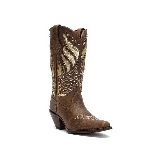 Durango Crush 12 Boots ($205) ❤ liked on Polyvore featuring shoes, boots, men, studded boots, studded cowgirl boots, vintage western boots, vintage cowgirl boots and sparkly cowboy boots