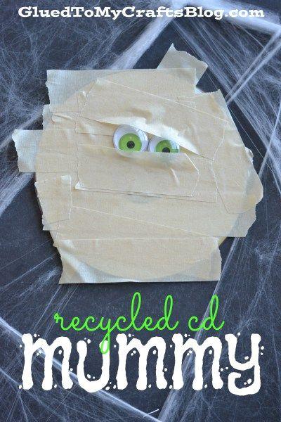 Recycled CD Mummy - Kid Craft Idea