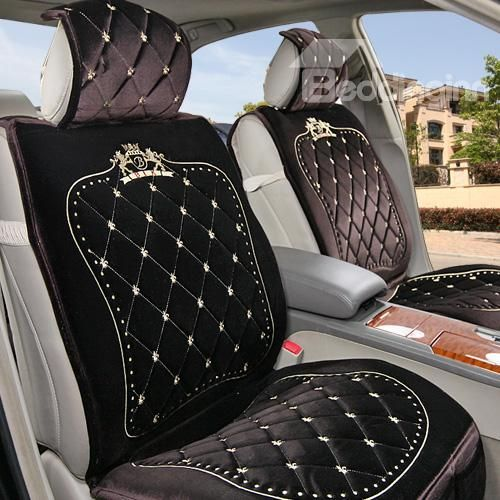 High Quality Embroidered Soft Fashion Plush Made Car Seat Cover