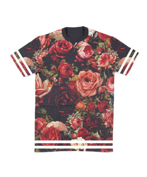 | ///Zomb Floral Jersey Tee  Digital Design ...