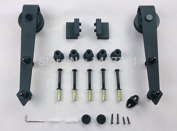 Aliexpress.com: Comprar 195 cm de acero negro rústico correderas ...