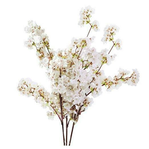 Sunm Boutique Silk Cherry Blossom Branches Artificial Cherry Blossom Tree Stems In 2020 Artificial Cherry Blossom Tree Fake Flower Arrangements Fake Flowers