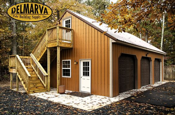 24x36x10 3 car garage and loft pole building for 30x40 shop with loft
