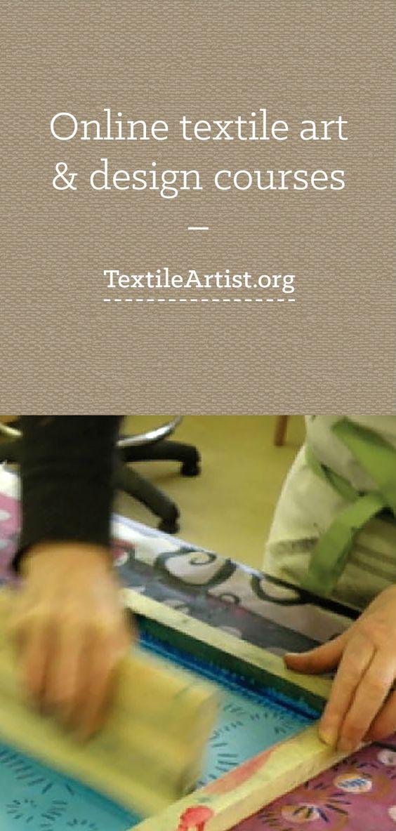 Online textile art & design courses