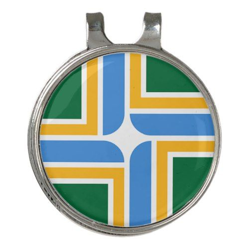 Golf Hat Clip And Ball Marker Flag Of Portland Zazzle Com Ball Markers Golf Hats Hat Clips