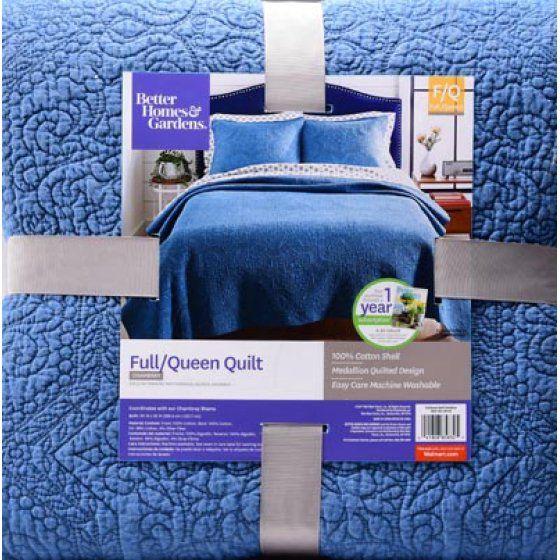 Better Homes Gardens Chambray Full Queen Quilt Walmart Com Better Homes Queen Quilt Home
