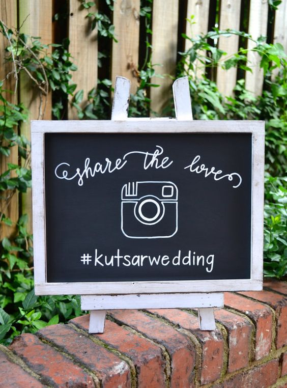 Share the Love Hashtag Wedding Sign with von OhHappyDayDesignCo