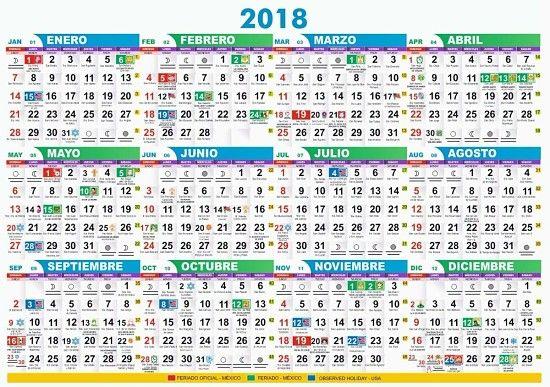 Calendario Santoral.Diseno Calendario 2018 Con Santoral Y De Bolsillo Editable