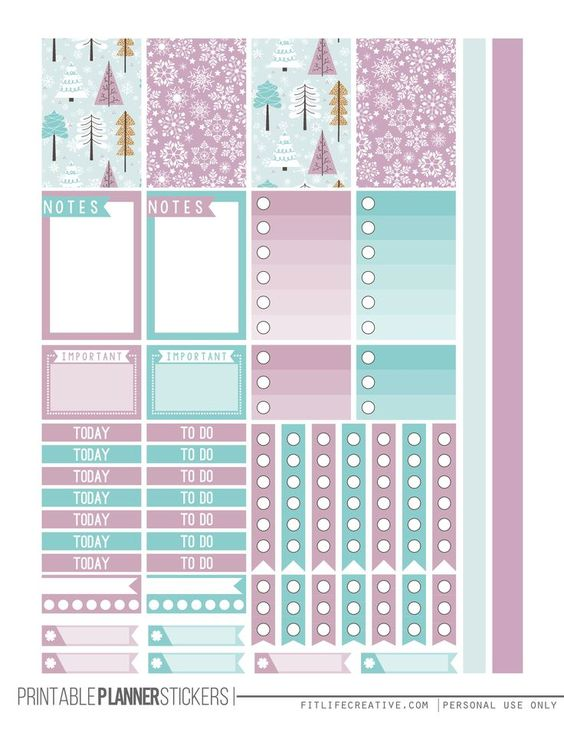 Winter Wonderland Free Printable Planner Stickers | Fit Life Creative