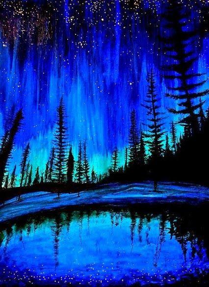 pintura árvores: