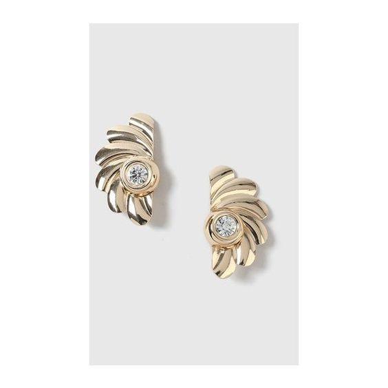 TopShop Vintage Swirl Clip-on Earrings ($28) ❤ liked on Polyvore featuring jewelry, earrings, clear, topshop earrings, rhinestone clip on earrings, rhinestone earrings, vintage rhinestone jewelry and clear earrings
