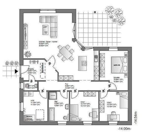 Ö-Haus GmbH / Gestalten - Planen - Bauen: WB-136/ Grundriss ...