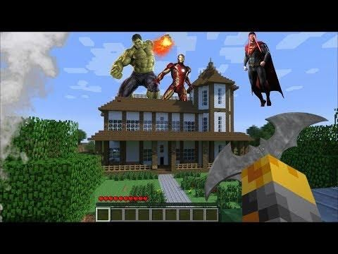 Giant Superhero Appears In My House In Minecraft Minecraft Mods Minecraft Mods Minecraft Gta 5 Mods