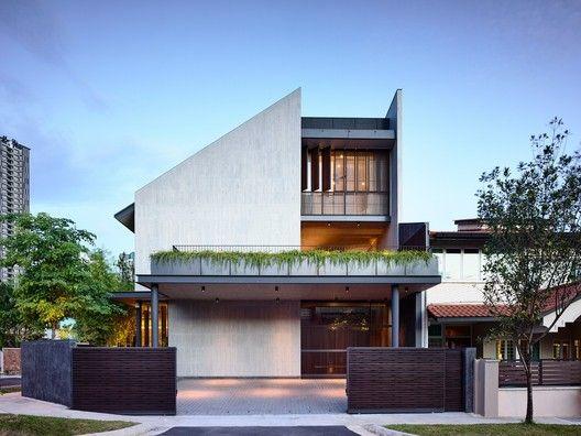 Cascading Courts Hyla Architects Facade House Contemporary House Design House Exterior