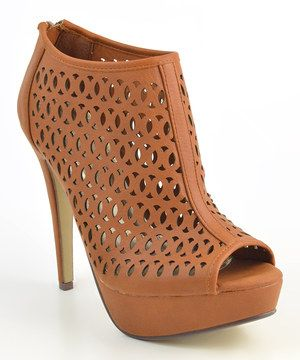 Another great find on #zulily! Elegant Footwear Camel Tess Platform Pump by Elegant Footwear #zulilyfinds