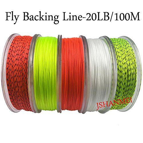 JSHANMEI Fly Line Backing 100M 20LB Fly Fishing Backing Line Abrasion Resistant Braid Fly Fishing Line Backing Fishing Line