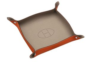 Hermes Leather Tray - leather trays make great gifts for men