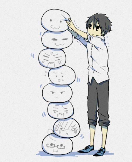 Kawaii anime boy chibi dude