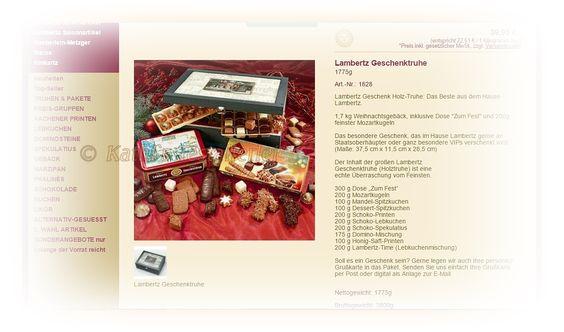 #LAMBERTZ - Die königliche Geschenktruhe aus Holz - das Geschenk zum Fest