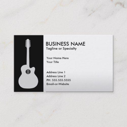 Acoustic Guitar Business Card Zazzle Com Business Card Template Design Acoustic Guitar Business Card Design