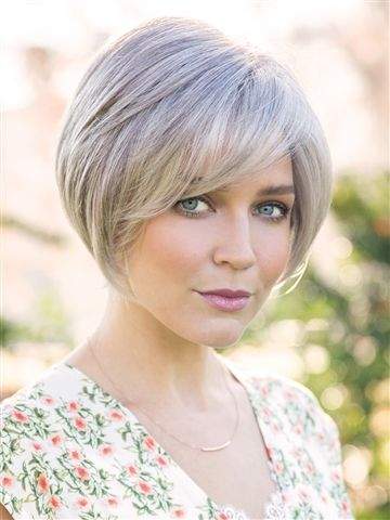 Nala Wig by Amore: Sophisticated layered bob with angled sides and sweeping fringe.