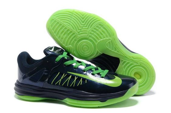 Nike Lunar Hyperdunk X LOW 2012 Navy Blue/Neon Green