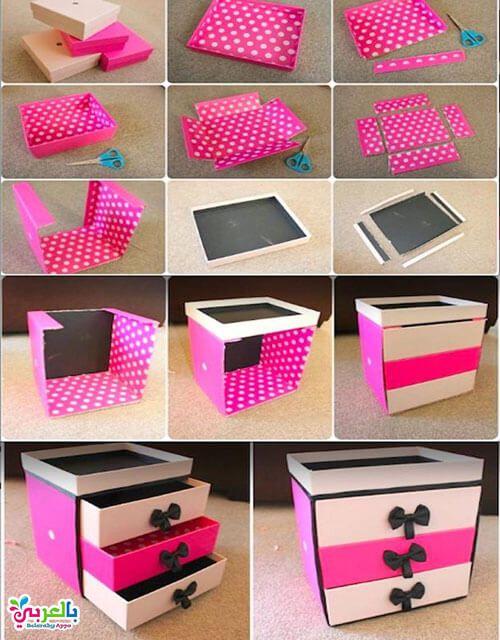 صنع اشياء من الكرتون للبنات اعمال يدوية بدون تكاليف بالعربي نتعلم Pinterest Diy Crafts Diy Craft Room Diy Jewelry Organizer Box