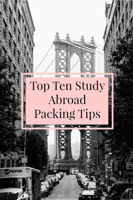 Top Ten Study Abroad Packing Tips