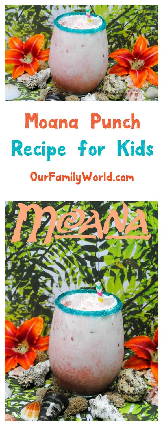 Hosting a Moana party for kids? Check out our yummy Moana-inspired non-alcoholic drink recipe! It's great any other birthday party theme too!:
