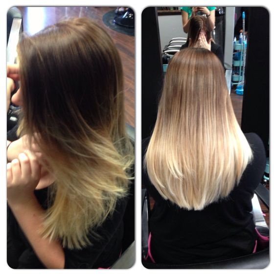 Dark brown to platinum blonde ombr hair pinterest for Blond braun ombre